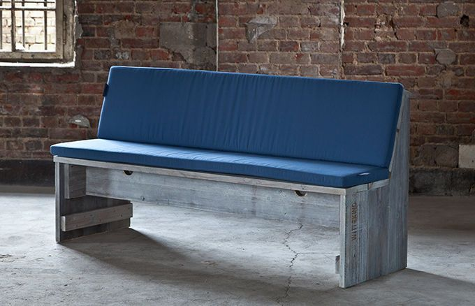 3er Sitzbank mit Rückenlehne » WITTEKIND Terrassenmöbel