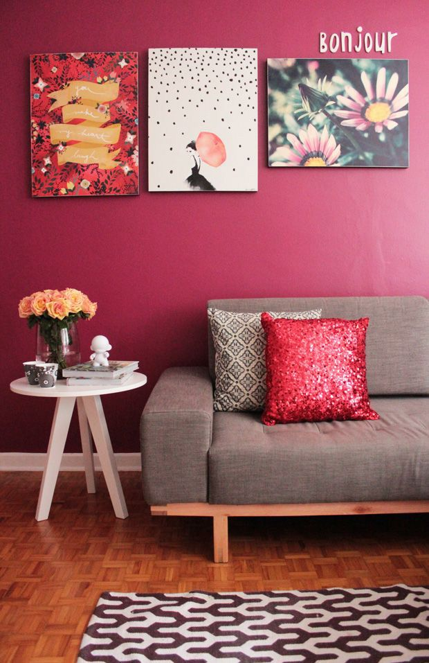 vermelho decoração referans sala framboesa