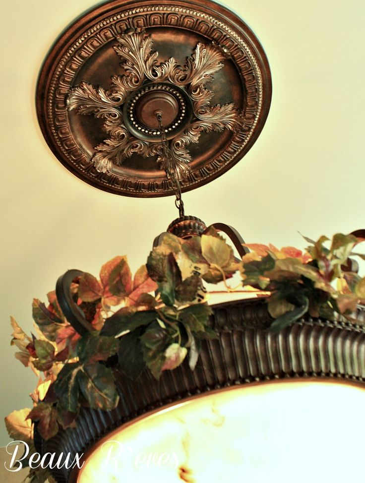 Every light fixture deserves a ceiling medallion. Left white or painted your favorite colors medallions make a great addition to any room. http://www.udecor.com/