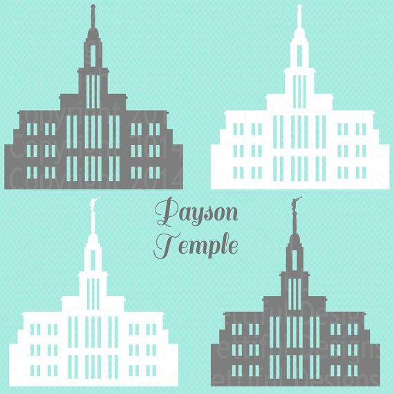 payson utah lds temple vector clip art