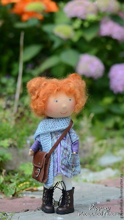 Купить Еще одна Рыжулька)))) Имя придумает мамочка))) - васильковый, кукла, кукла ручной работы