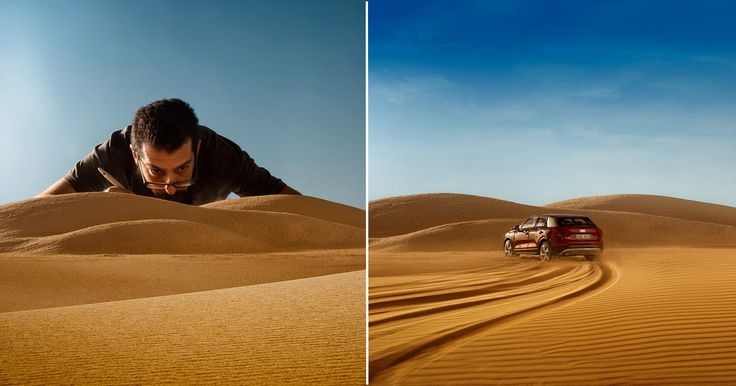 #Photography: #Audi Ad Was Shot Using 1/43 Scale Models and a Homemade Desert
