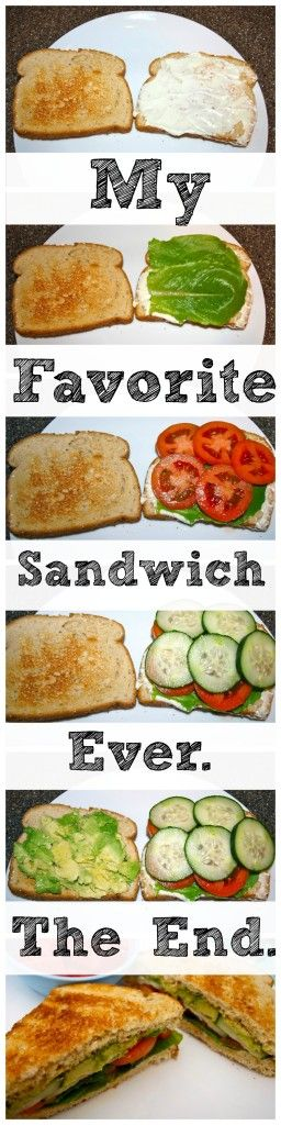 This is not just any veggie sandwich.  This is the most perfect veggie sandwich you will ever eat.  You are going to fall in LOVE with this sandwich.  Best. Recipe. Ever.
