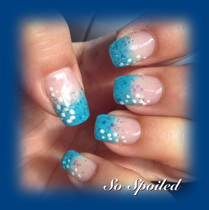 Bio Sculpture Gel Nail Art & Design - tropical sea nails ...