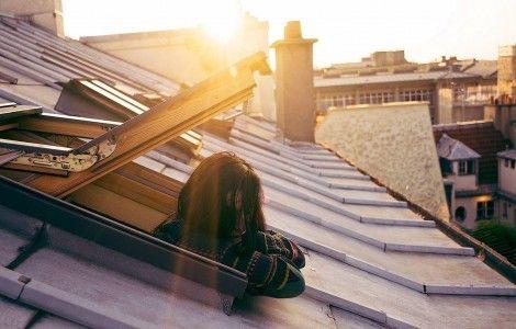 Girl Alone at Window Wallpaper