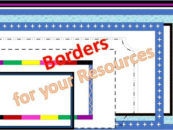 Borders to use in your Powerpoint Resources Free