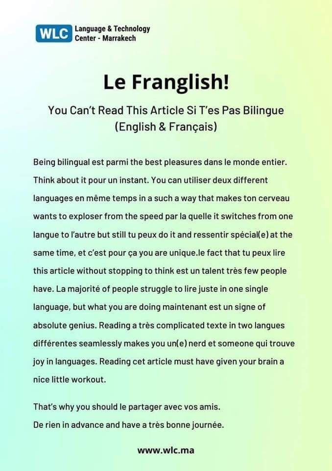 Can You Lire Le Franglish With Images French Language Lessons