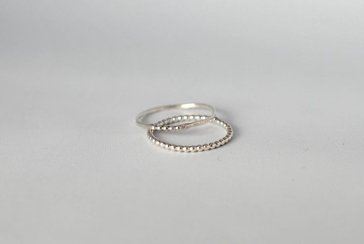 Simply Thin with Tiny Dots silver ring. Stack alert! This beauty looks great on its own, but it looks even better in good company.