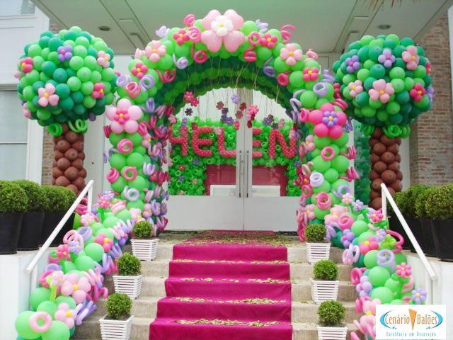 decoracao de bolas tema jardim encantado:1000 ideias sobre Parede De Bexigas no Pinterest