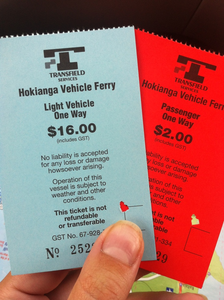 Hokianga ferry tickets / Northlands