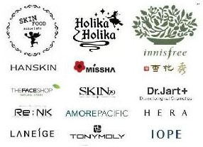 Selection of Korean Cosmetic Brands