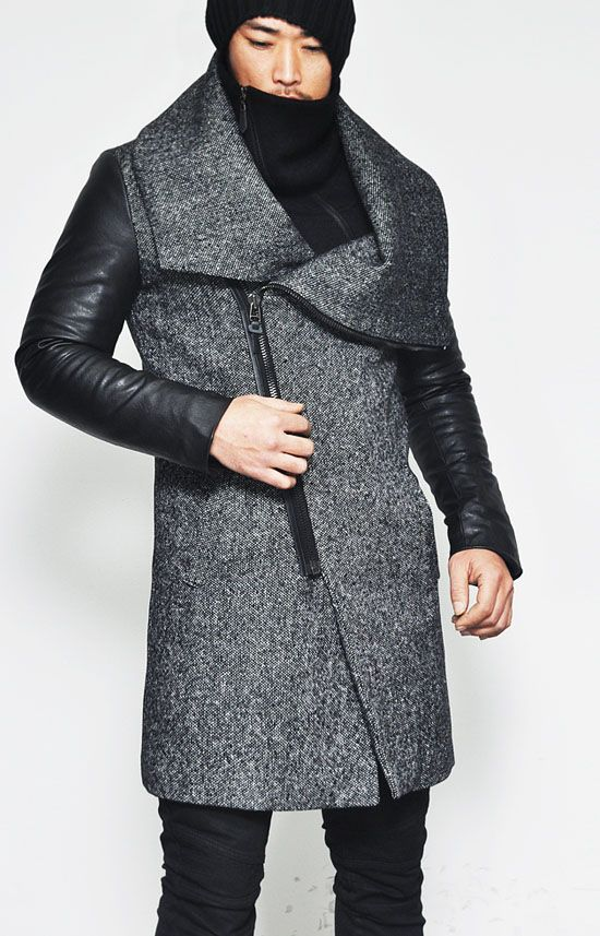 http://www.guylook.com/highneck-shirring-leather-contrast-herringbone-coat-57-en.html