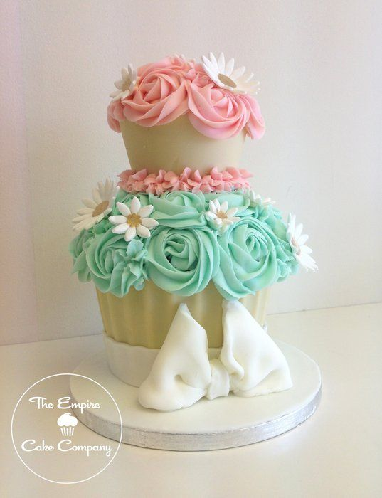 2 Tier Giant cupcake by the Empire Cake Company