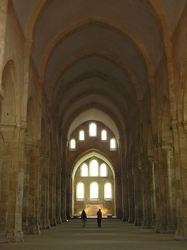 Fontenay Abbey ca. 1100. Burgundy, France. . . .The keynote of Cistercian life was a return to literal observance of the Rule of St Benedict (as supposed to the Benedictines, who at that time were pretty much corrupted)!  The Cistercian monks tried to replicate monastic life exactly as it had been in Saint Benedict's time; indeed in various points they went beyond it in austerity. Their minimalist principles also included architecture . . . . minimalism before Minimalism!