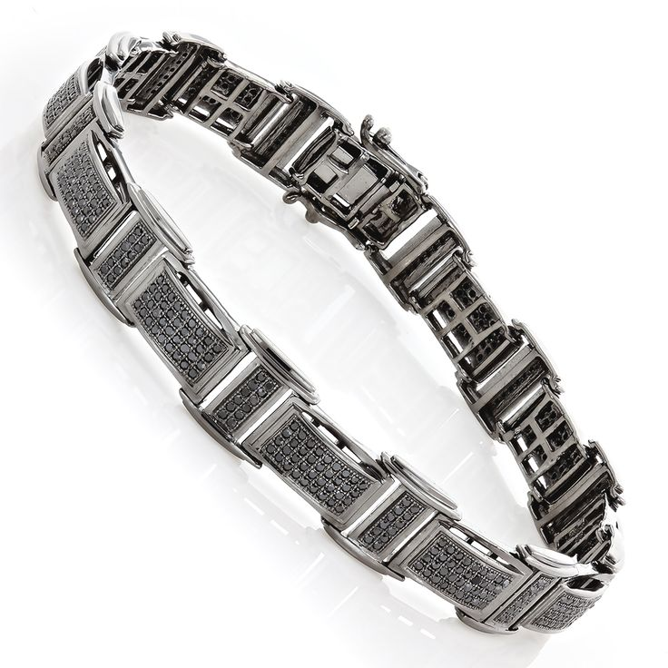 http://www.itshot.com/mens-14k-black-on-black-diamond-bracelet-254ct-p-22476.aspx Mens 14K Black on Black Diamond Bracelet 2.54ct $2,999.00