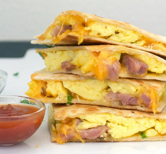Start your morning off right with this quick and easy breakfast quesadilla recipe.
