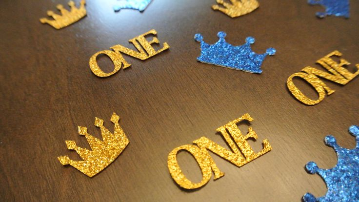 Royal Prince First Birthday Confetti. 50 ct. READY TO SHIP. By Paper Rabbit by PaperRabbit87 on Etsy