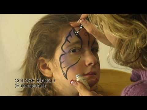 Tutorial per truccabimbi, trucco di una farfalla semplice - simple butterfly makeup for facepainters