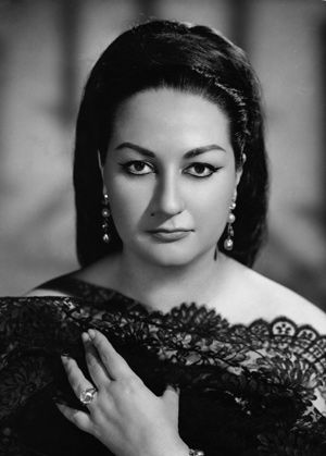 Montserrat Caballe lovely publicity portrait from the 60's