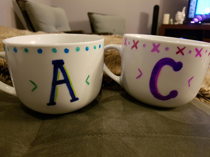 Sharpie Mugs. His and Hers