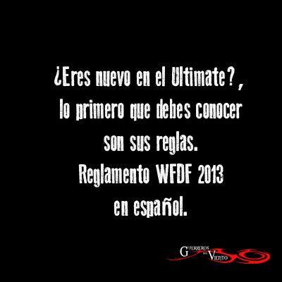 Reglamento WFDF 20113 en Español http://guerrerosdelviento.blogspot.com/2013/07/reglamento-wfdf-2013.html #UltimateFrisbee #GuerrerosdelViento