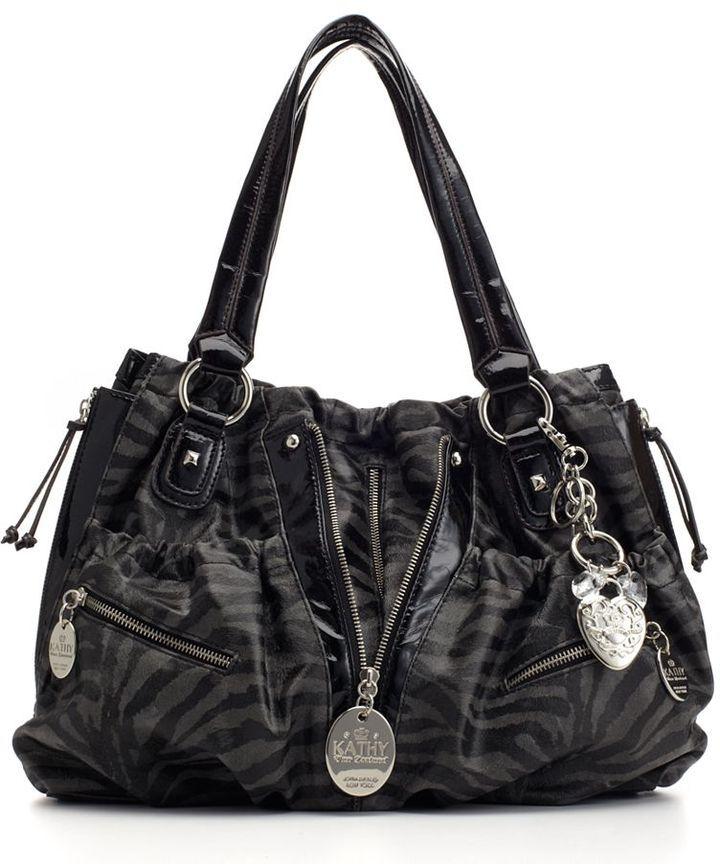 Kathy Van Zeeland--zipper shopper bag is nearly impossible to buy now in plain black...