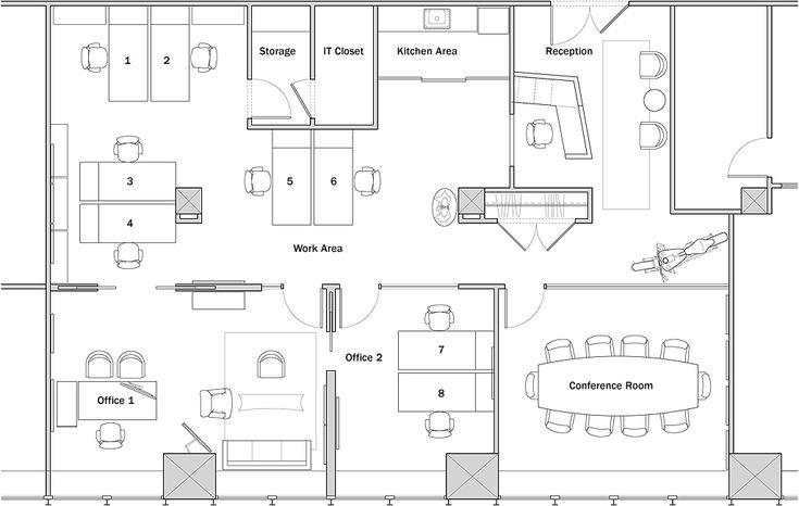 polygonal shaped reception desk office design