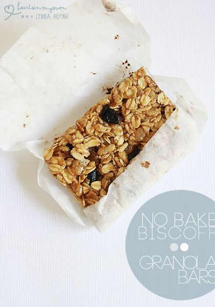 Hearts in My Oven: No Bake Biscoff Granola Bars I replace 1/4 cup of ...