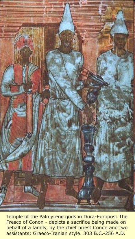 Chief Priest Conon With Two Assistants   How did Jesus and the Hebrews become WHITE?