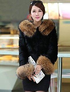 Nai.Si  Women European Upscale Warmth Cheap  Fur Coats(More ... – USD $ 44.99