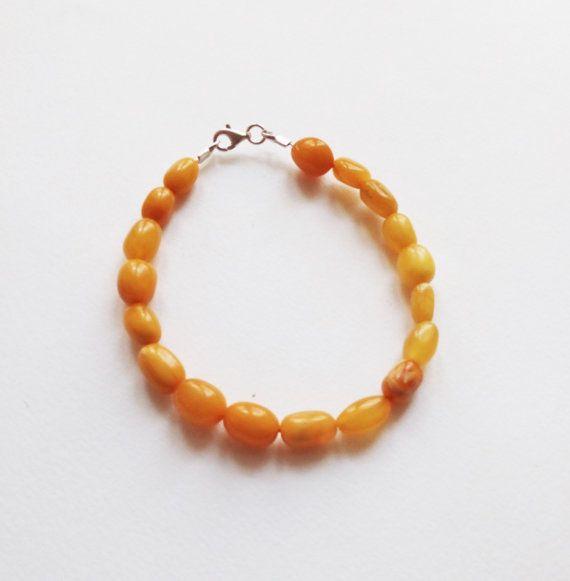 Natural baltic amber bracelet 7g.