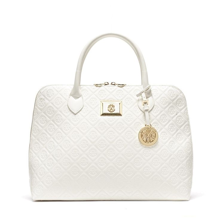CXL by Christian LaCroix Sylvia Embossed Dome Satchel Handbag, Women's