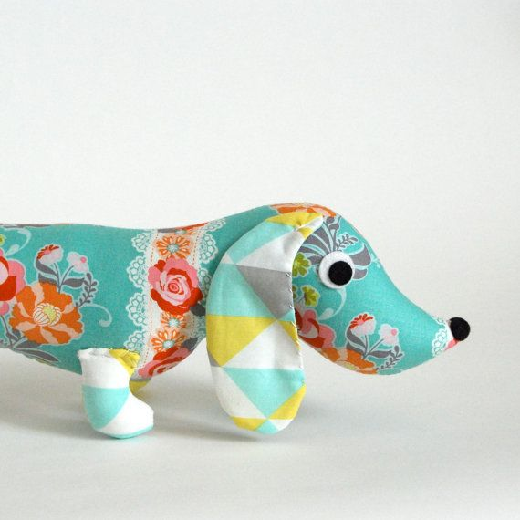 Children Stuffed Plush Wiener Dog Dachshund Toy Doll