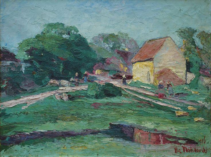 Włodzimierz Terlikowski - Wiosna w Bretanii 1916, olej, płótno 89 x 116 cm