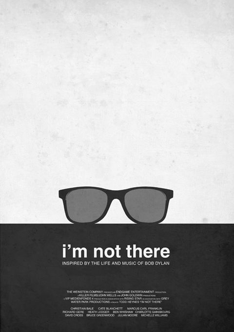"""""""I'm Not There"""" minimal movie poster by Aldous Massie"""
