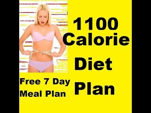 1100 Calorie Diet - Sample Low Calorie Diet - 7 Day Diet Plan