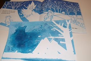 Our Creative Day: Salt Art - Here Comes Jack Frost