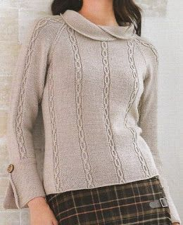 Pullover with overlapping collar and sleeve plackets
