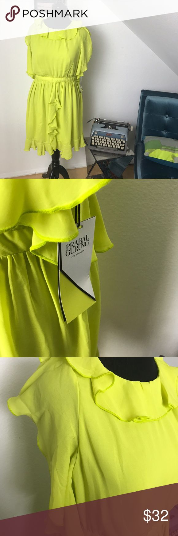NWT Prabel Gurung for Target Dress Neon Yellow Dress, perfect for summer. 24 hour 50% off sale ✨🌟💫 Prabal Gurung for Target Dresses