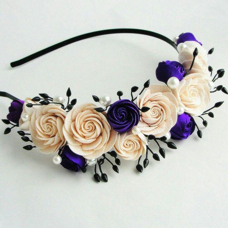 Headband. Handmade flowers. Flowers. Handmade. Handcrafted. Hair accessories. Wedding flowers. Wedding accessories. Wedding. Hair.
