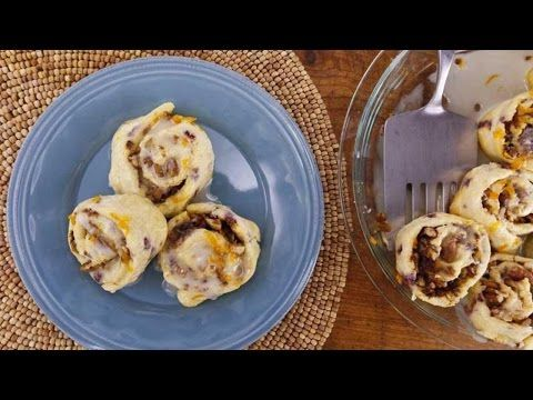 Sunny Anderson's Easy Pancake Mix Cinnamon Bacon Rolls - YouTube