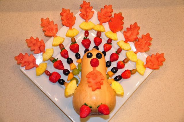 Thanksgiving Fun Fruit Platter Watermelon Pineapple