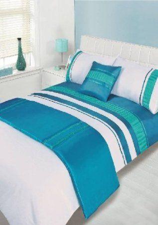 atlanta blue single size 4pc bed in a bag duvet cover bedding set 1 x duvet cover 1 x. Black Bedroom Furniture Sets. Home Design Ideas