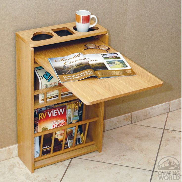 Oak-Finish Wall Table - Four Corners 69086 - Tables - Camping World