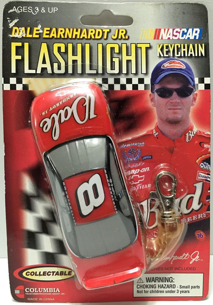 (TAS033725) - 2002 Nascar Collectible Dale Earnhardt Jr. Flashlight Keychain #8