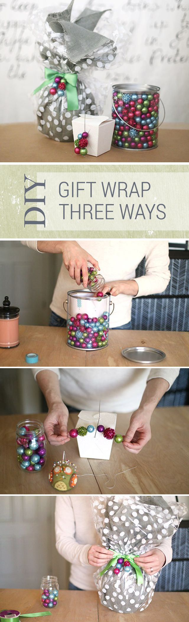 Three unique ways to wrap Christmas gifts - so handy! Make your gifts extra enticing this year!