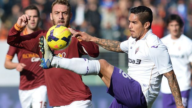 Juan Vargas titular en Fiorentina vs. Chievo Verona. #Depor