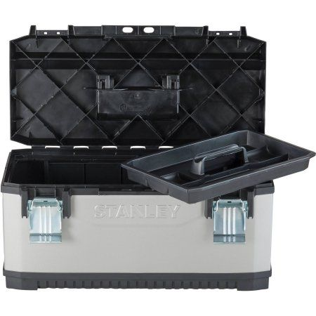 Stanley Fatmax Metal Plastic Tool Box, 26 In., Black