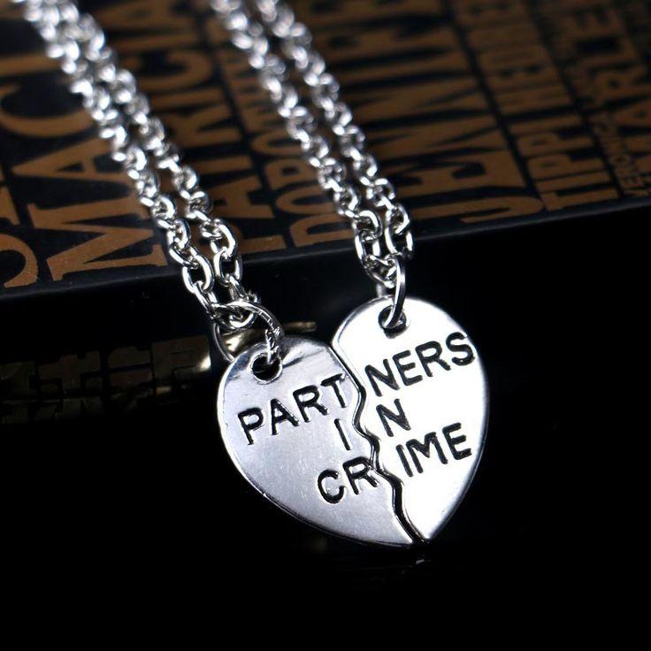 Fashion Friendship Broken Heart 2 Parts Best Friend Necklaces & Pendants Heart or Ying Yang Necklaces