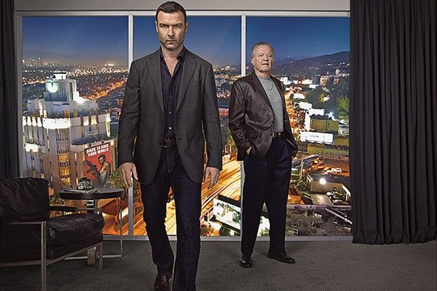 "Liev Schreiber as Ray Donovan and Jon Voight as Mickey Donovan in Showtime's ""Ray Donovan"""
